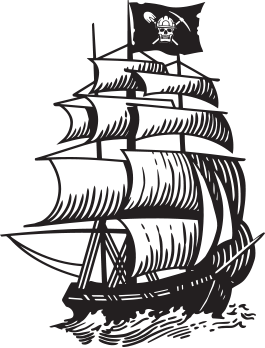 Pirate Staffing Ship Icon